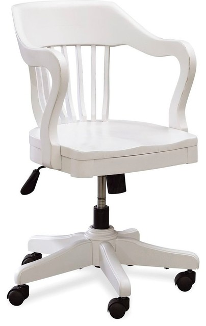 black and white young banker 39 s chair white contemporary office chairs