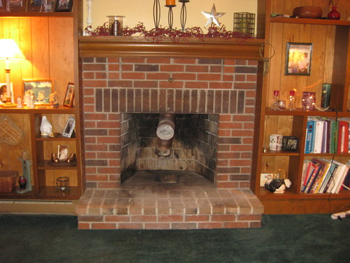 Our old fireplace makeover! Went from the 70's to warm and cozy~~~