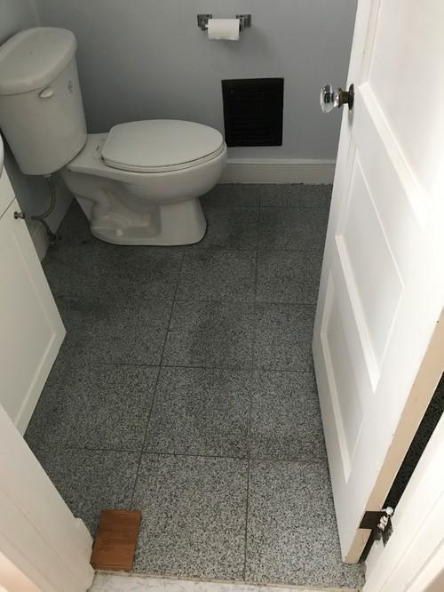 Replace Floor In Bathroom