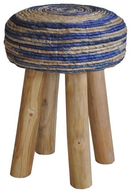 Tremendous Moes Home Bali Stool Round Blue Ncnpc Chair Design For Home Ncnpcorg