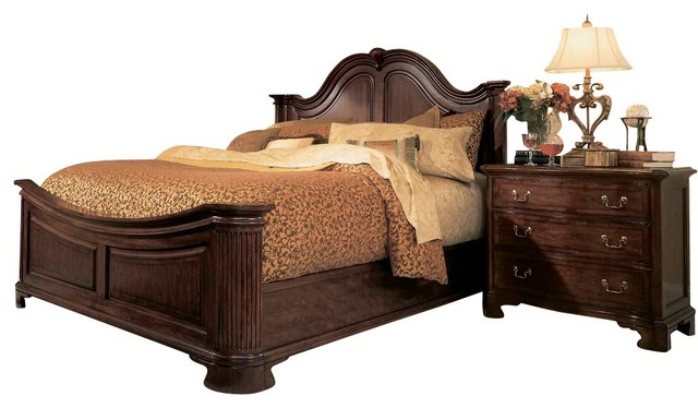 American Drew Cherry Grove 2 Piece Mansion Bedroom Set In Antique Cherry  Traditional Bedroom Gallery