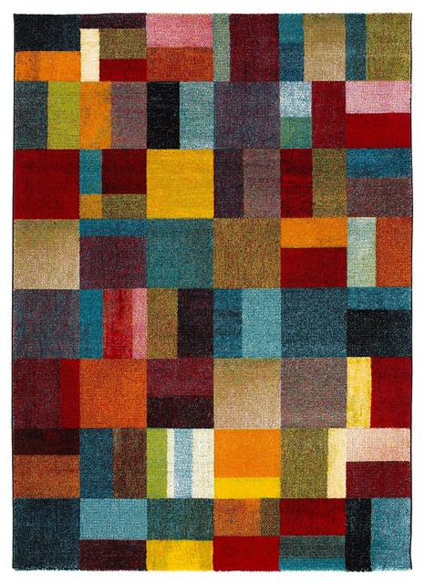 Colors Multicolour Abstract Block Rug, 160x230 cm
