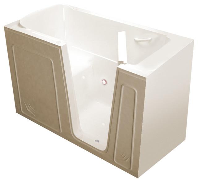Meditub Walk-In 32 X 60 Right Drain Biscuit Soaking Walk-In Bathtub.