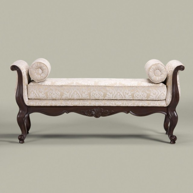 belfiore bench - traditional - upholstered benches -ethan allen