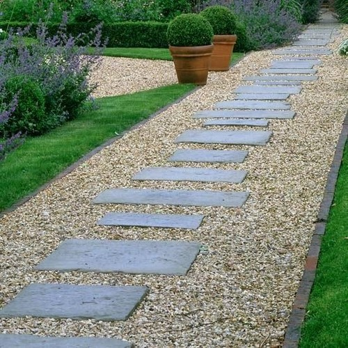 can i build a path with pea gravel and pavers on a slope. Black Bedroom Furniture Sets. Home Design Ideas