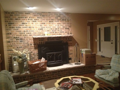 Off center fireplace what 39 s next for Center chimney house plans