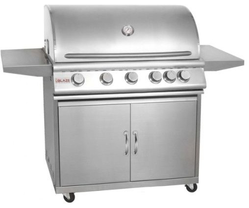 Blaze 40 5-Burner Grill And Cart Package With Rear Burner, Natural Gas.