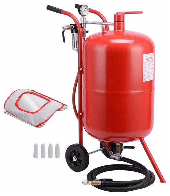 Air Sand Blaster With Ceramic Tips, 20-Gallon.