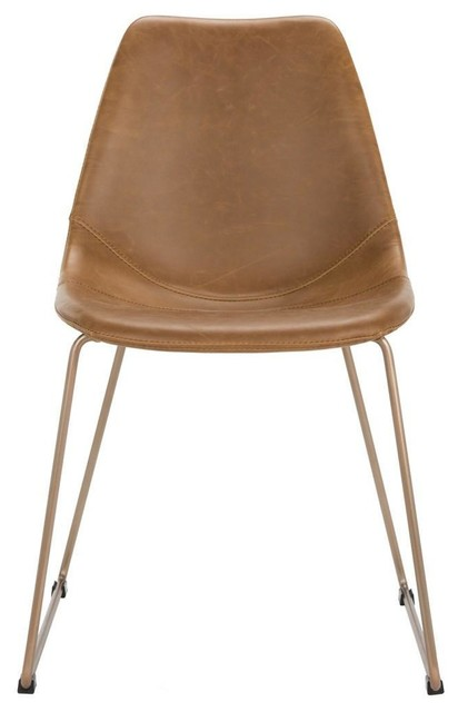 Midcentury Modern Leather Dining Chair