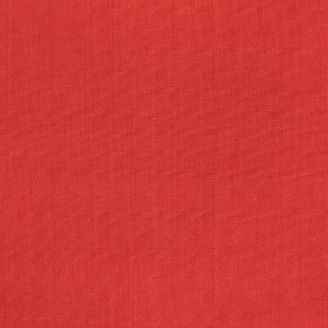 Red Solid Cotton Woven Upholstery Fabric Contemporary
