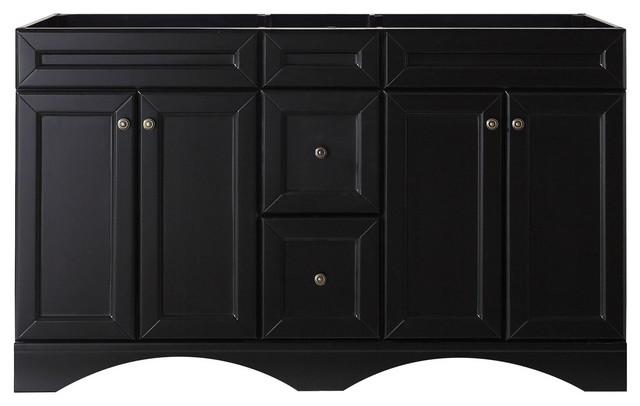 """Talisa 60"""" Double Bathroom Vanity Cabinet, Espresso."""