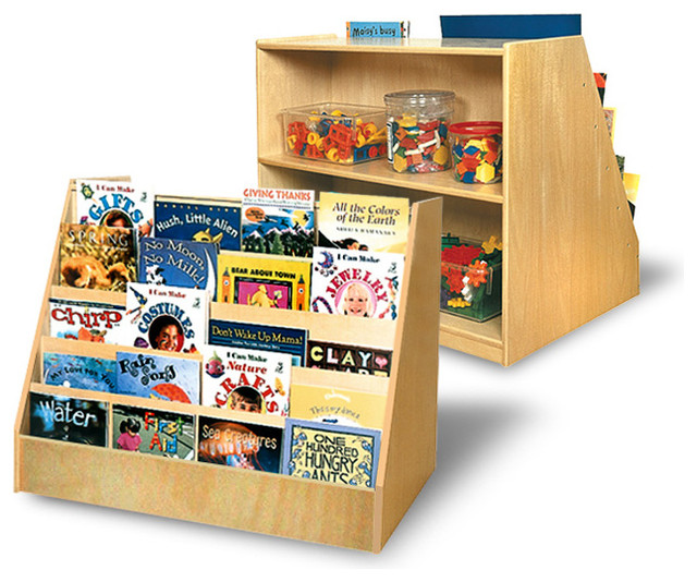 Book Display With Storage Unit Contemporary Kids Bookcases By A Childsupply