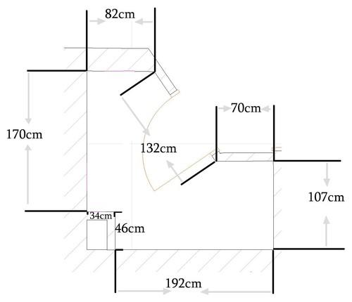 Small bathroom ergonomics for Ergonomic designs bathroom