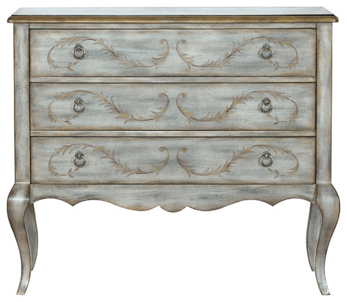 Painted Laurel Accent 3 Drawer Chest, Parisian Gray