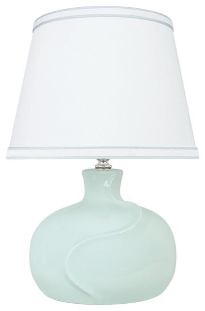 Aspen Creative 40182 11 14 1 2 High Ceramic Table Lamp Light Blue Contemporary Table Lamps By Aspen Creative Corporation