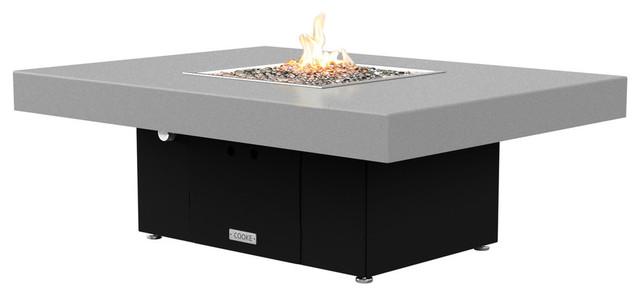 Rectangular Fire Pit Table, 48x36, Natural Gas, Hilltop ...