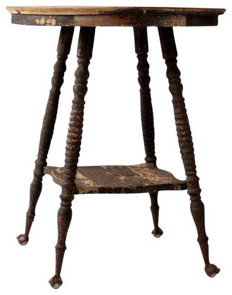 Consigned Victorian Claw Foot Side Table