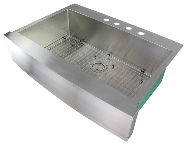 Transolid Diamond 16 Gauge Super Single Dual Mount Stainless Steel Sink.