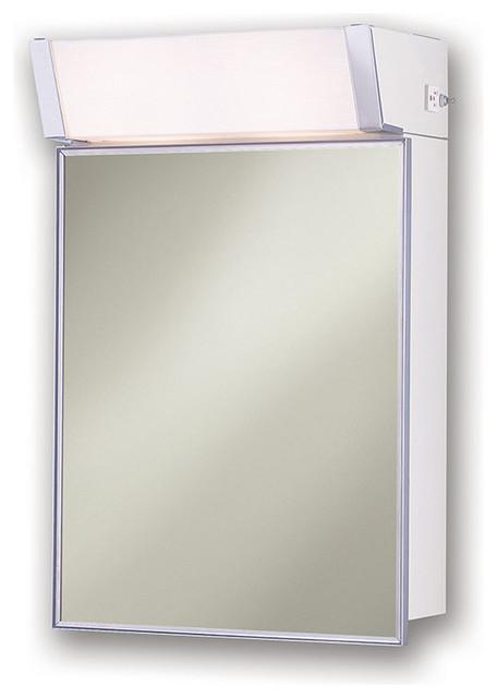 "Shop Houzz | Rangaire Lighted 16""x24"" Surface Mount Medicine Cabinet - Medicine Cabinets"