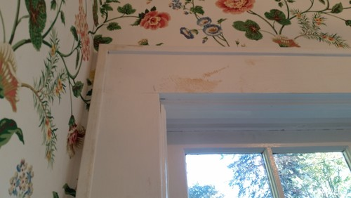 Removing Old Wallpaper Paste From Painted Wood Trim