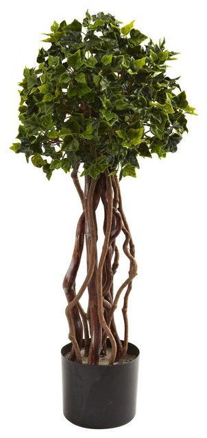 2.5u0027 English Ivy Topiary, UV Resistant, Indoor And Outdoor Contemporary  Artificial