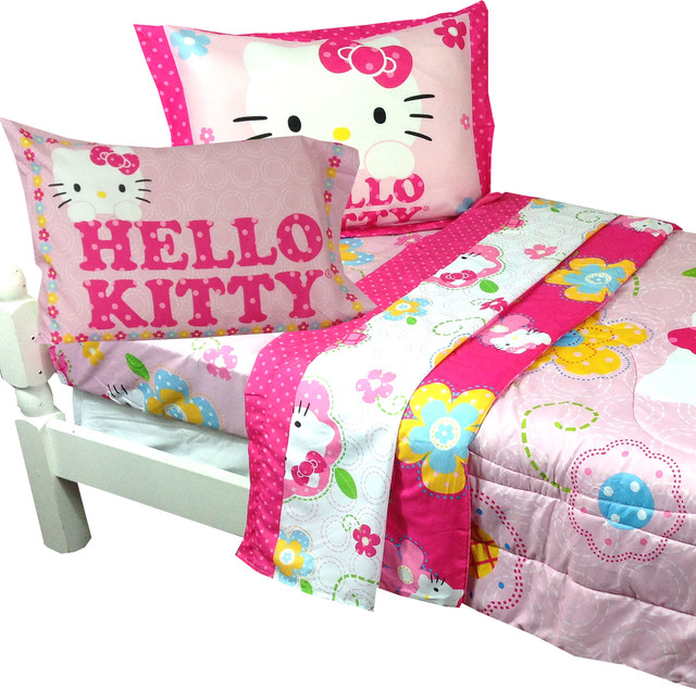 hello kitty twin bedding sanrio floral boutique bed set