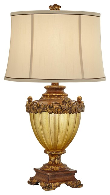 1 light standard bulb table lamp in antique gold victorian table lamps
