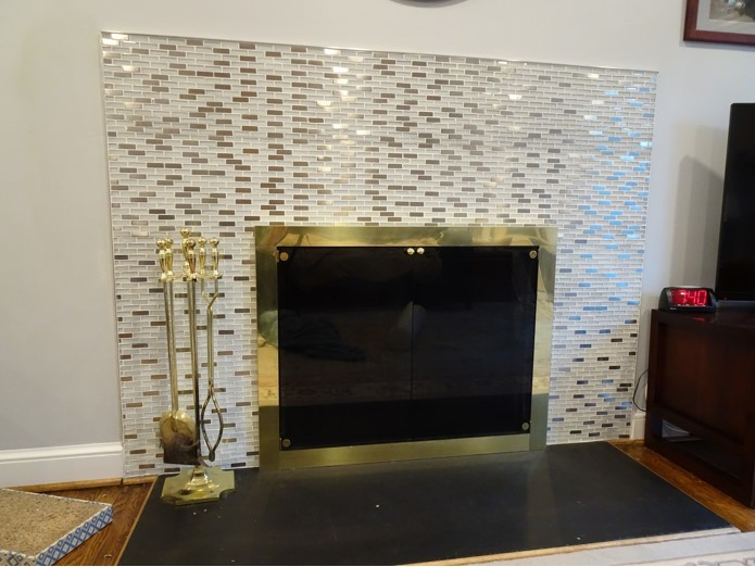 Arlington Transitional Fireplace: Before