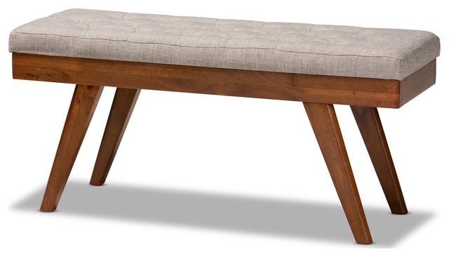 Merveilleux Baxton Studio Alona Mid Century Modern Fabric Wood Dining Bench   Midcentury    Dining Benches   By Fratantoni Lifestyles