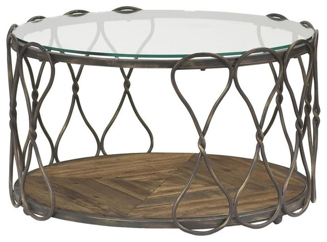 Shop Houzz Hammary Furniture Round Cocktail Table Coffee Tables