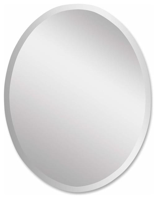 Uttermost Frameless Vanity Oval Mirror.