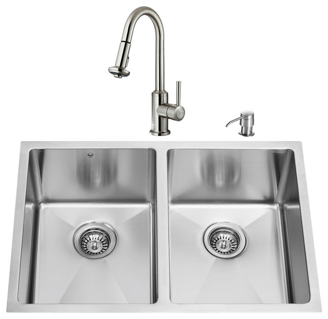 Faucets For Undermount Kitchen Sinks : All Products / Kitchen / Kitchen Fixtures / Kitchen Sinks