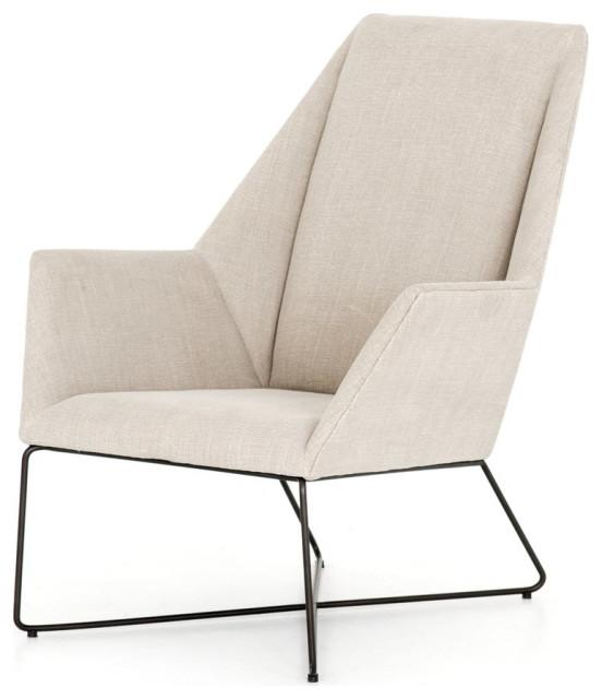Norris Chair Stonewash Print Ecru