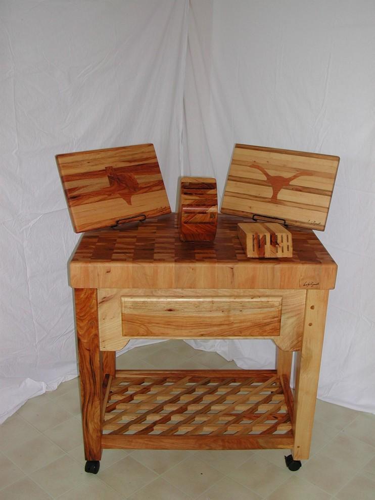 Pecan Butcher Block kitchen cart