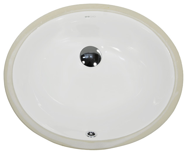 Ucore 16 Undermount Oval Ceramic Sink.