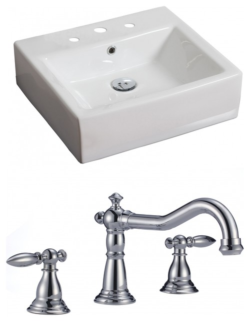 rectangle vessel set with 8 o c faucet 20