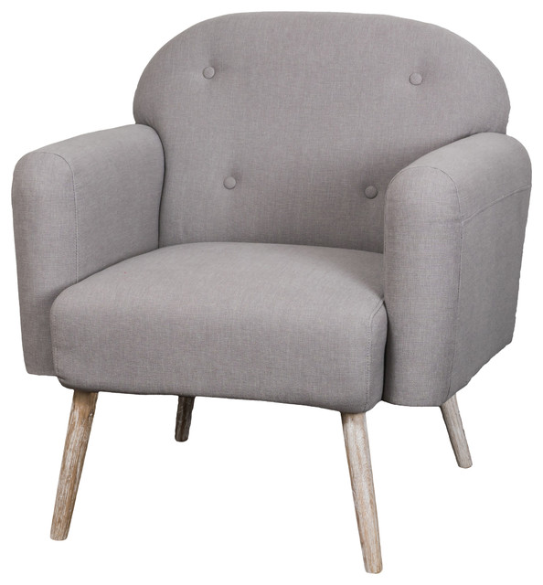 heathrow gray fabric arm chair midcentury armchairs and accent chairs