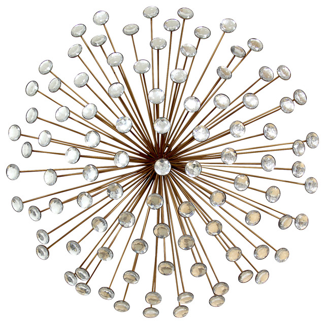 Starburst Wall Decor stratton home decor bronze acrylic burst, wall mirror - midcentury