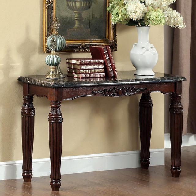 Furniture Of America Branton Traditional Espresso Faux