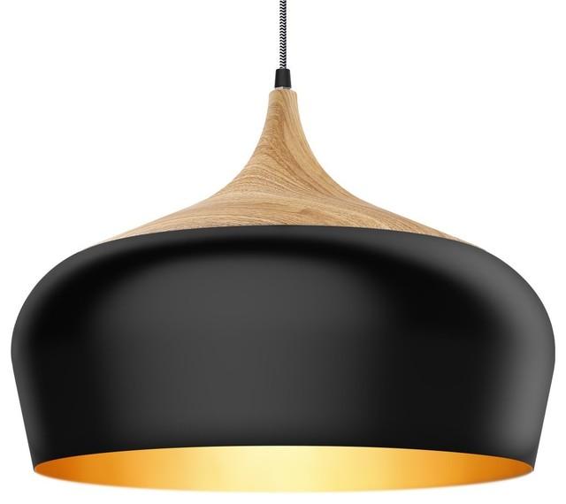 Rustic Style Wood Pattern Ceiling Pendant Lamp.