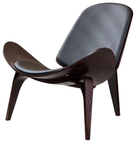 renat shell wing accent chair midcentury armchairs and accent
