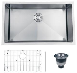 "Ruvati RVH7300 Undermount 16 Gauge 30"" Kitchen Sink Single Bowl modern-kitchen-sinks"
