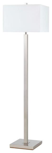Signature 1-Light Floor Lamps, Brushed Steel.