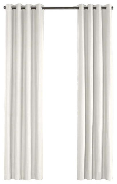 shop houzz loom decor ivory linen grommet curtain curtains