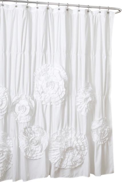 Serena Shower Curtain Farmhouse Shower Curtains By Lush Decor