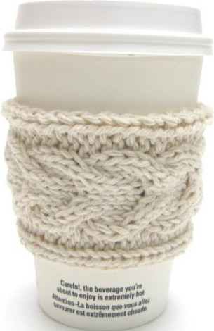 Knitted Coffee Sleeves eclectic barware
