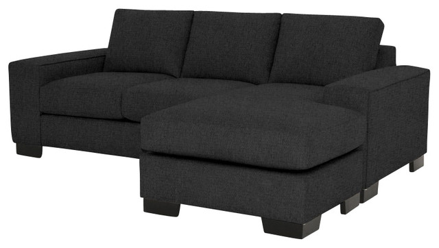 Melrose Reversible Sectional Charcoal modern sectional sofas