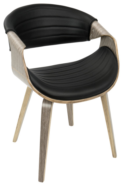 Symphony Chair, Gray and Black