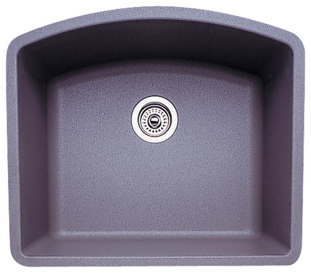 "Blanco 440173 20.8""x24"" Granite Single Undermount Kitchen Sink, Metallic Gray."