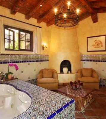 Hacienda master bathroom